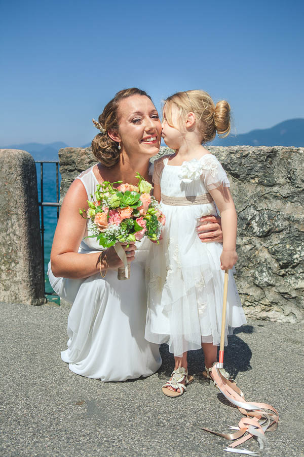Lake Garda Destination Wedding Flowergirl Daughter Bride http://www.carolinepotterphoto.com/