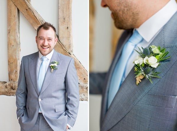 Fresh Fun Relaxed Blue & Green Wedding Grey Suit Groom http://www.katherineashdown.co.uk/