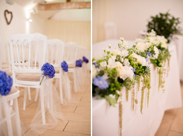 Fresh Fun Relaxed Blue & Green Wedding Aisle Flowers http://www.katherineashdown.co.uk/