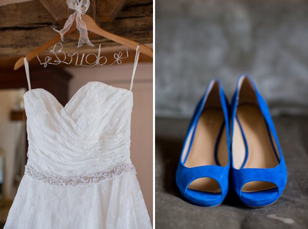 Fresh Fun Relaxed Blue & Green Wedding Custom Dress Hanger http://www.katherineashdown.co.uk/
