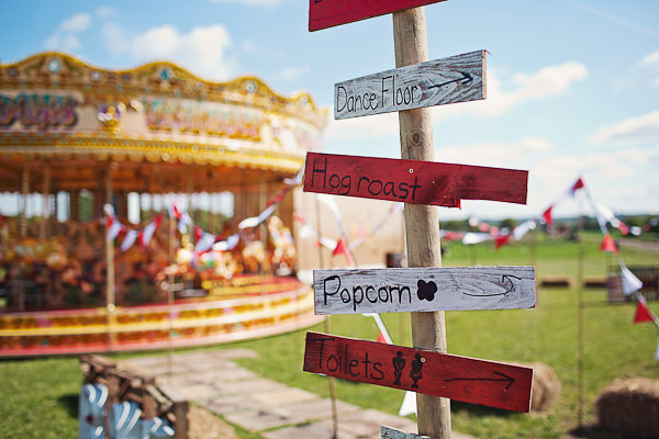 Funfair Farm DIY Wedding Rustic Sign Post http://www.kathrynedwardsphotography.com/