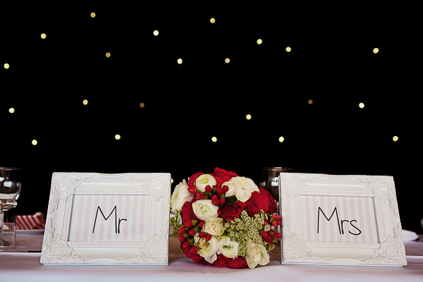 Funfair Farm DIY Wedding Mr Mrs Sign http://www.kathrynedwardsphotography.com/