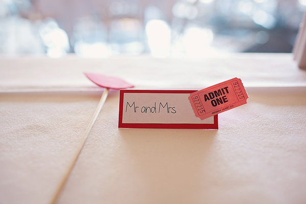 Funfair Farm DIY Wedding Ticket Place Name http://www.kathrynedwardsphotography.com/