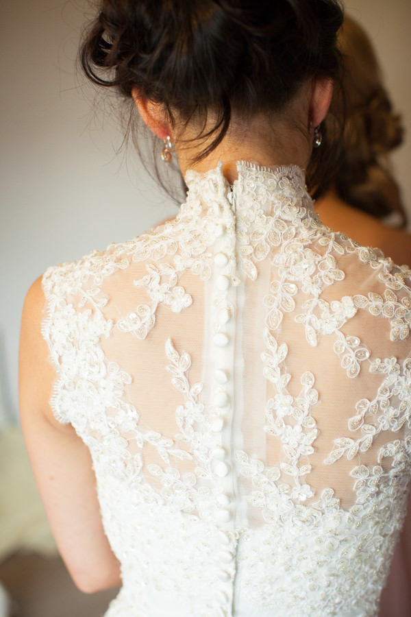 Family Budget Wedding Lace Button Back Dress Bride http://www.lightandstories.com/