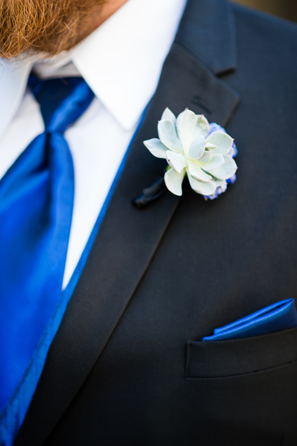 Colourful Chic Outdoor Spring Texas Wedding Succulent Buttonhole http://www.coryryan.com/