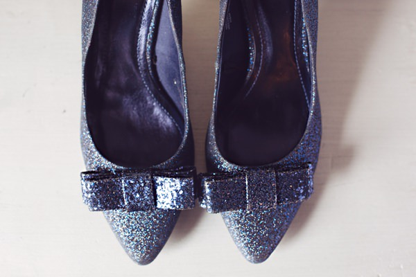 Navy Glitter Bow Blue Wedding Shoes Bride http://www.juliaandyou.co.uk/