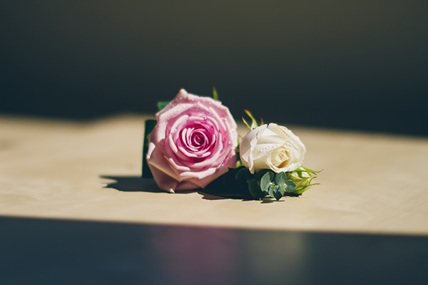 Charming Homemade Blue Wedding Rose Buttonhole http://www.lifelinephotography.co.uk/