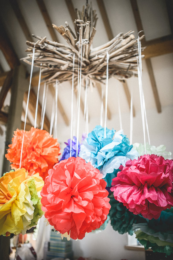 Colourful Festival Wedding Pom Poms http://www.pixiesinthecellar.co.uk/