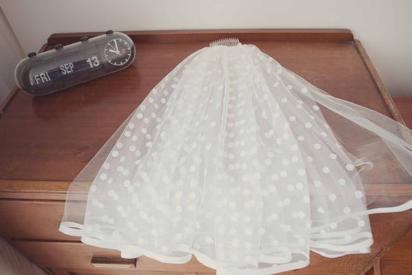 Quirky City Wedding Polka Dot Veil http://www.philippajamesphotography.com/