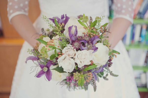 Quirky City Wedding Pretty Natural Bridal Bouquet http://www.philippajamesphotography.com/