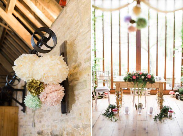 Whimsical Woodland Fairytale Wedding Pom Poms http://www.lisadawn.co.uk/