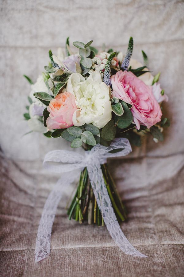 Stylish Rustic Barn Wedding Peony Rose Bouquet http://www.lolarosephotography.com/