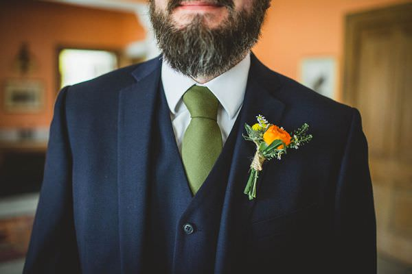 Colourful Homemade Origami Wedding Green Tie Groom http://christophercurrie.co.uk/