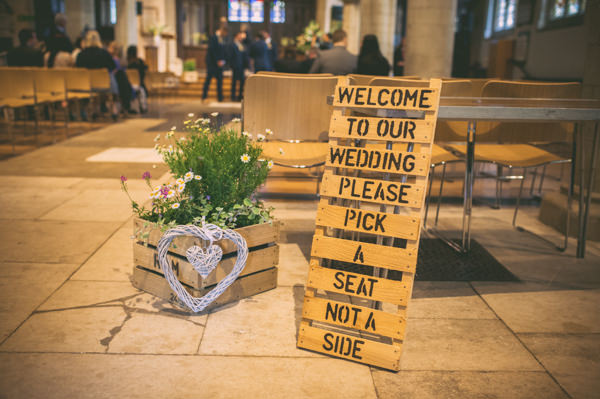 Country Rustic Yellow Barn Wedding Crate Sign http://www.sophieduckworthphotography.com/
