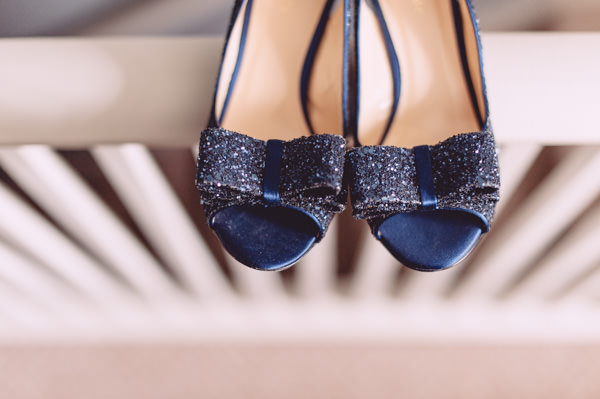 Kate Spade Glitter Bow Shoes Bright Light Peach Wedding http://www.annapumerphotography.com/