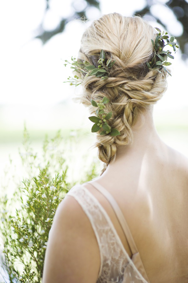 Beautiful Rustic Woodland Bridal Bride Plaited Braid Flower Foliage Bride http://www.careysheffield.com/