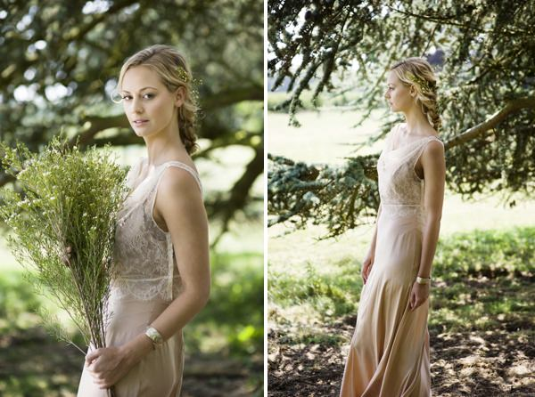 Cecile by La Poesie Dress Beautiful Rustic Woodland Bridal Bride http://www.careysheffield.com/