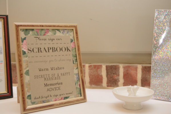 Pastel Homemade Walled Garden Wedding Scrapbook Guestbook http://www.suekwiatkowska.com/