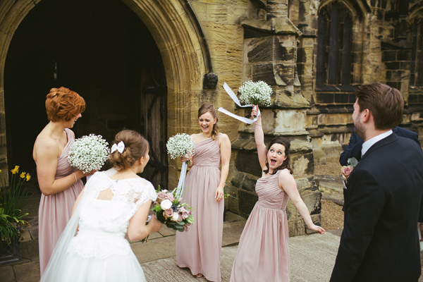 Quirky Stylish Barn Wedding Pink Bridesmaids http://www.mikeandtom.co.uk/