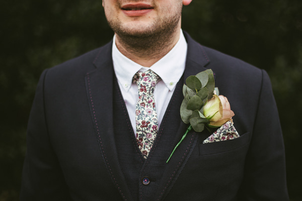 Quirky Stylish Barn Wedding Liberty Print Groom Tie http://www.mikeandtom.co.uk/