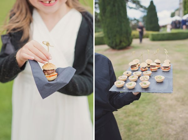 Timeless Modern Hydrangea Wedding Burget Canapes http://www.cottoncandyweddings.co.uk/