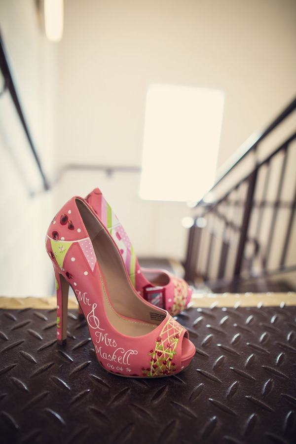 Small Village Hall Tea Cup Wedding Custom Painted Shoes Bride http://assassynation.co.uk/