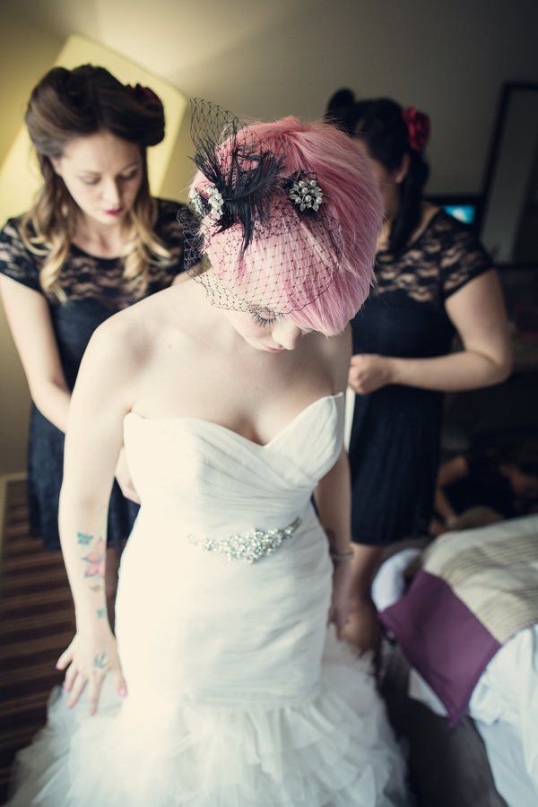 Small Village Hall Tea Cup Wedding Birdcage Veil Bride  http://assassynation.co.uk/