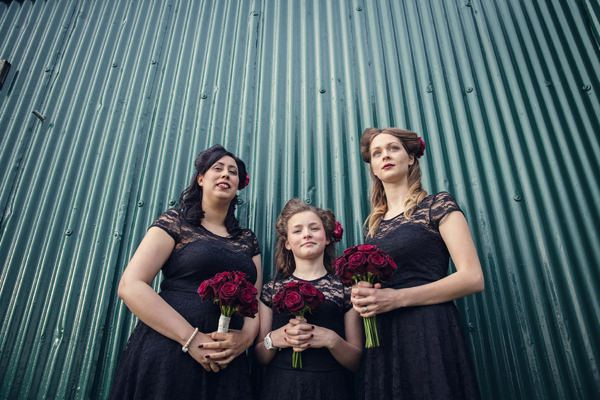 Small Village Hall Tea Cup Wedding Black Vintage Bridesmaids Dresses http://assassynation.co.uk/