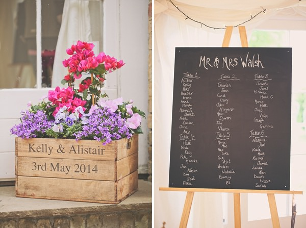 Pretty Marquee Wedding Crate Flowers http://www.victoriamitchellphotography.com/