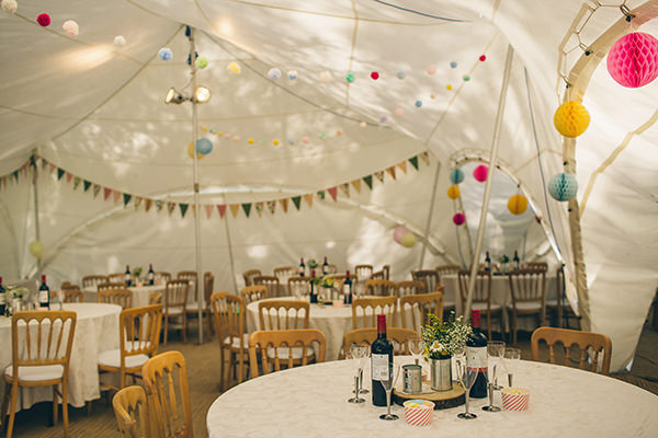 Quirky Campsite Outdoor Wedding Marquee http://www.lifelinephotography.co.uk/
