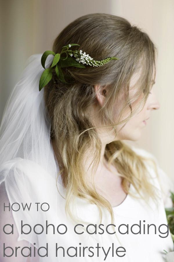 DIY Braid Plait Hair Wedding Bride Style Up Do