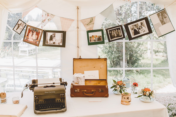 Quirky Outdoor Farmyard Chic Wedding Suitcase http://www.noeldeasington.com/