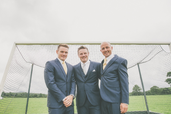 Camping Hockey Field Wedding Blue Suit Groom http://www.milliebenbowphotography.com/
