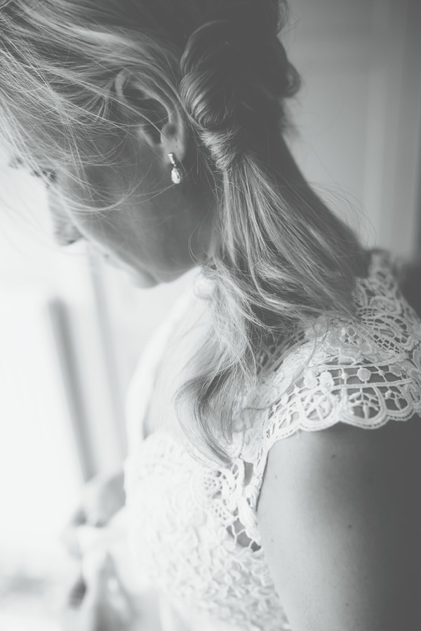 Camping Hockey Field Wedding Ponytail Bride Hair Style http://www.milliebenbowphotography.com/