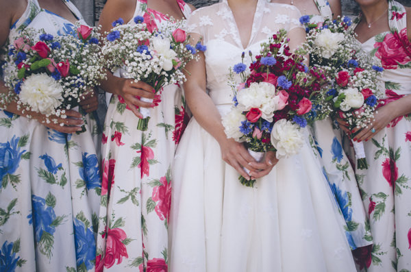 Classic Vintage Street Party Wedding DIY Bouquets Bride Bridesmaid http://www.ilovestories.co.uk/
