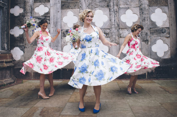 Viviene of Holloway 1950s Bridesmaids Floral Classic Vintage Street Party Wedding http://www.ilovestories.co.uk/