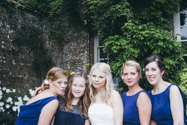 Luxe Traditional Pink Gold Wedding Blue Bridesmaids  http://www.annataylorphotography.co.uk/