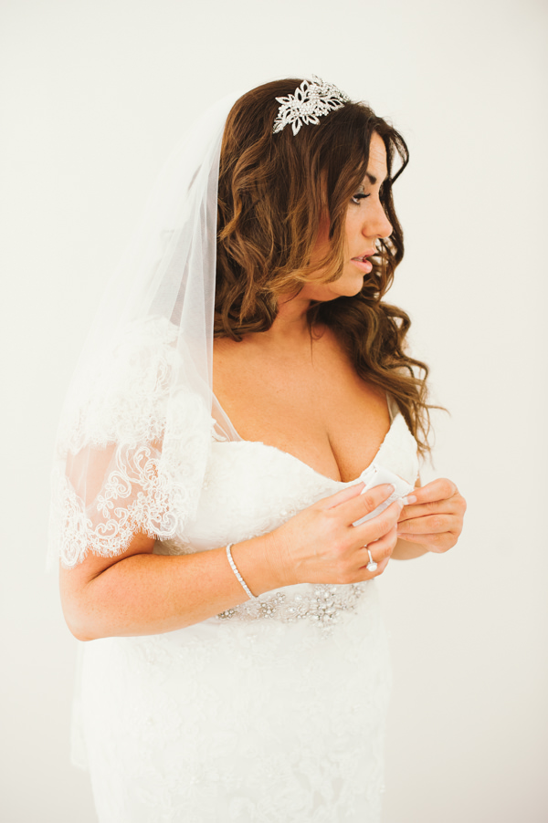 Home Grown White Flower Filled Wedding Lace Veil Bride Accessories http://www.alextentersphotography.co.uk/