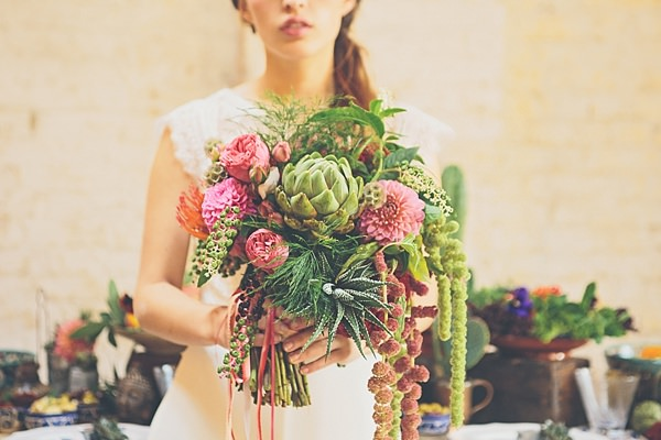 Moroccan Nights Wedding Ideas Pink Green Succulent Bridal Bouquet http://www.jessicawitheyphotography.com/