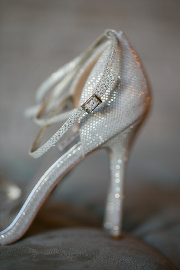 Simple Elegant Black Tie Minnesota Wedding Sparkle Silver Heels Bride Shoes  http://www.erinjohnsonphotoblog.com/