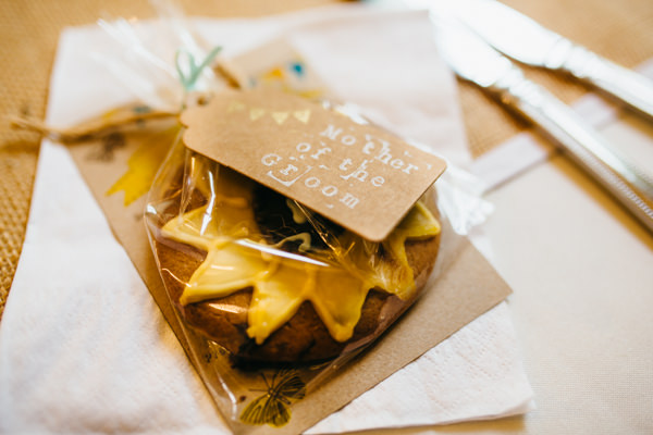 Earthy Natural Rustic Yellow Turquoise Wedding Biscuit Favours http://www.graceandtheheart.co.uk