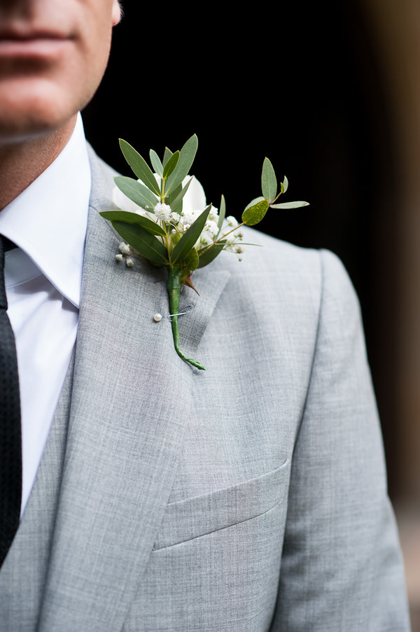 Pretty Country Garden Wedding Rose White Buttonhole Groom Flowers http://fionasweddingphotography.co.uk/