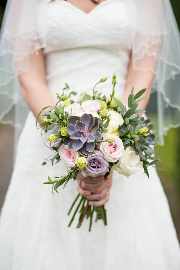 Pretty Country Garden Wedding Succulent Rose Bride Bouquet Flowers  http://fionasweddingphotography.co.uk/
