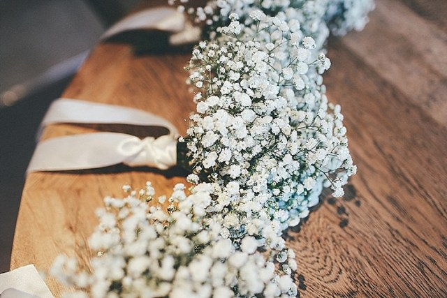 Gyp Gypsophila Baby Breath Bouquets Flowers Whimsical Green White Fairy Lights Winter Wedding http://jesspetrie.com/