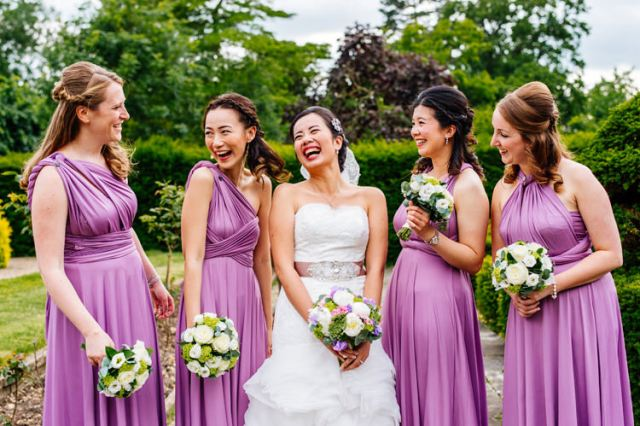 Purple Multi Way Dresses Long Bridesmaid Lilac Classic Timeless Oriental Twist Wedding http://www.aaroncollettphotography.co.uk/
