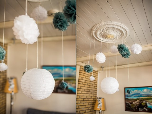 Pom Pom Lantern Intimate Beautiful Iceland Wedding http://meettheburks.com/