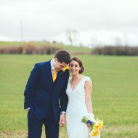Yellow Navy Spring Country Barn Wedding http://bigbouquet.co.uk/
