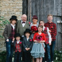 Eclectic Cranberry Red Silver Grey Antique White Barn Wedding http://www.faithdwightphotography.com/