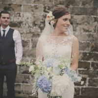 Pretty Elegant Blue Flower Filled Wedding http://helenrussellphotography.co.uk/