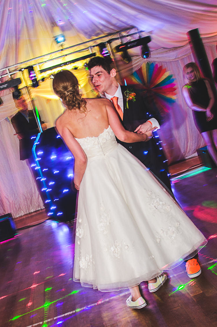 Bright Multicolour DIY Skater Village Hall Herefordshire Wedding http://www.robfarrellphotography.co.uk/